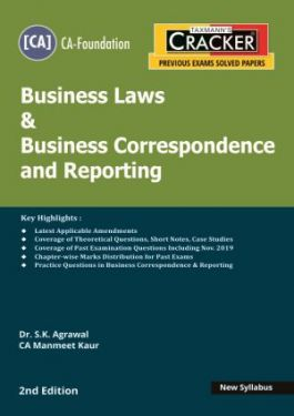 CA Foundation Paper 2 Business Laws and Business Correspondence and Reporting Cracker - S.K. Agrawal, Manmeet Kaur