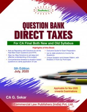 CA Final Group 2 Paper 7 Padhuka's Question Bank Direct Taxes - G. Sekar