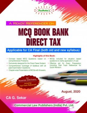 CA Final Group 2 Paper 7 Padhuka's A Ready Referencer On MCQ Book Bank Direct Tax - G. Sekar