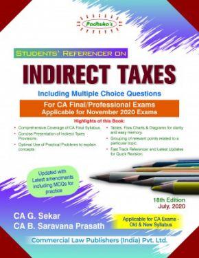 CA Final Group 2 Paper 8 Padhuka's Students Referencer on Indirect Taxes - G. Sekar B. Saravana Prasath