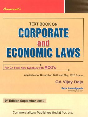 CA Final Group 1 Paper 4 Text Book on Corporate and Economic Law - Vijay Raja