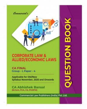CA Final Group 1 Paper 4 Corporate and Economic Law Question Book - Abhishek Bansal