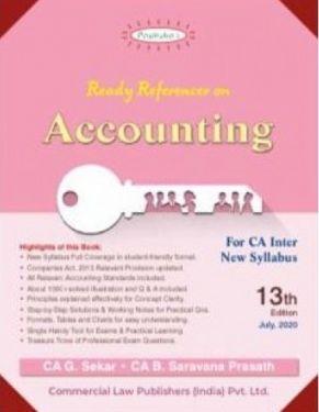 CA Inter Group 1 Paper 1 Padhuka's Ready Referencer on Accounting - G. Sekar B. Saravana Prasath