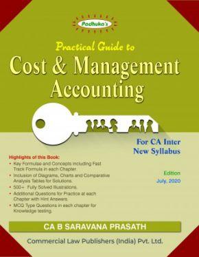 CA Inter Group 1 Paper 3 Padhuka's Students Handbook on Cost and Management Accounting - G. Sekar B. Saravana Prasath