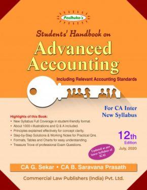 CA Inter Group 2 Paper 5 Padhuka's Student Handbook on Advanced Accounting - G. Sekar B. Saravana Prasath
