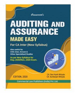 CA Inter Group 2 Paper 6 Auditing and Assurance - Ravi Kanth Miriyala, Sunitanjani Miriyala