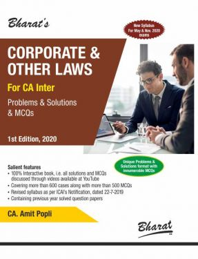 CA Inter Group 1 Paper 2 Corporate and Other Laws - Amit Popali