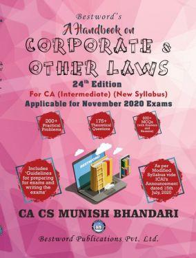 CA Inter Group 1 Paper 2 Corporate Laws & Other Laws - Munish Bhandari