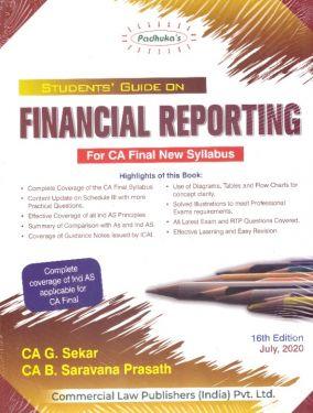 CA Final Group 1 Paper 1 Padhuka's Students Guide on Financial Reporting - G. Sekar B. Saravana Prasath