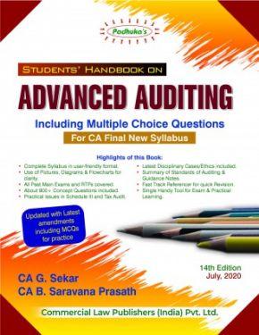 CA Final Group 1 Paper 3 Padhuka's Students Handbook on Advanced Auditing - G. Sekar B. Saravana Prasath