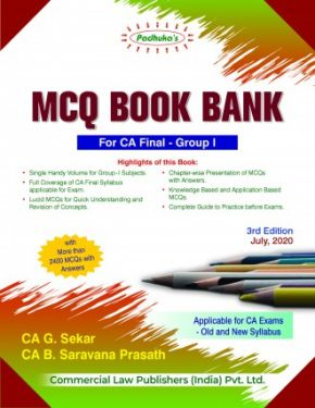 CA Final Group 1 Padhuka's MCQ Book Bank - G. Sekar B. Saravana Prasath