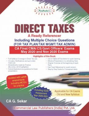 CA Final Group 2 Paper 7 Padhuka's Direct Taxes- A Ready Referencer - G. Sekar